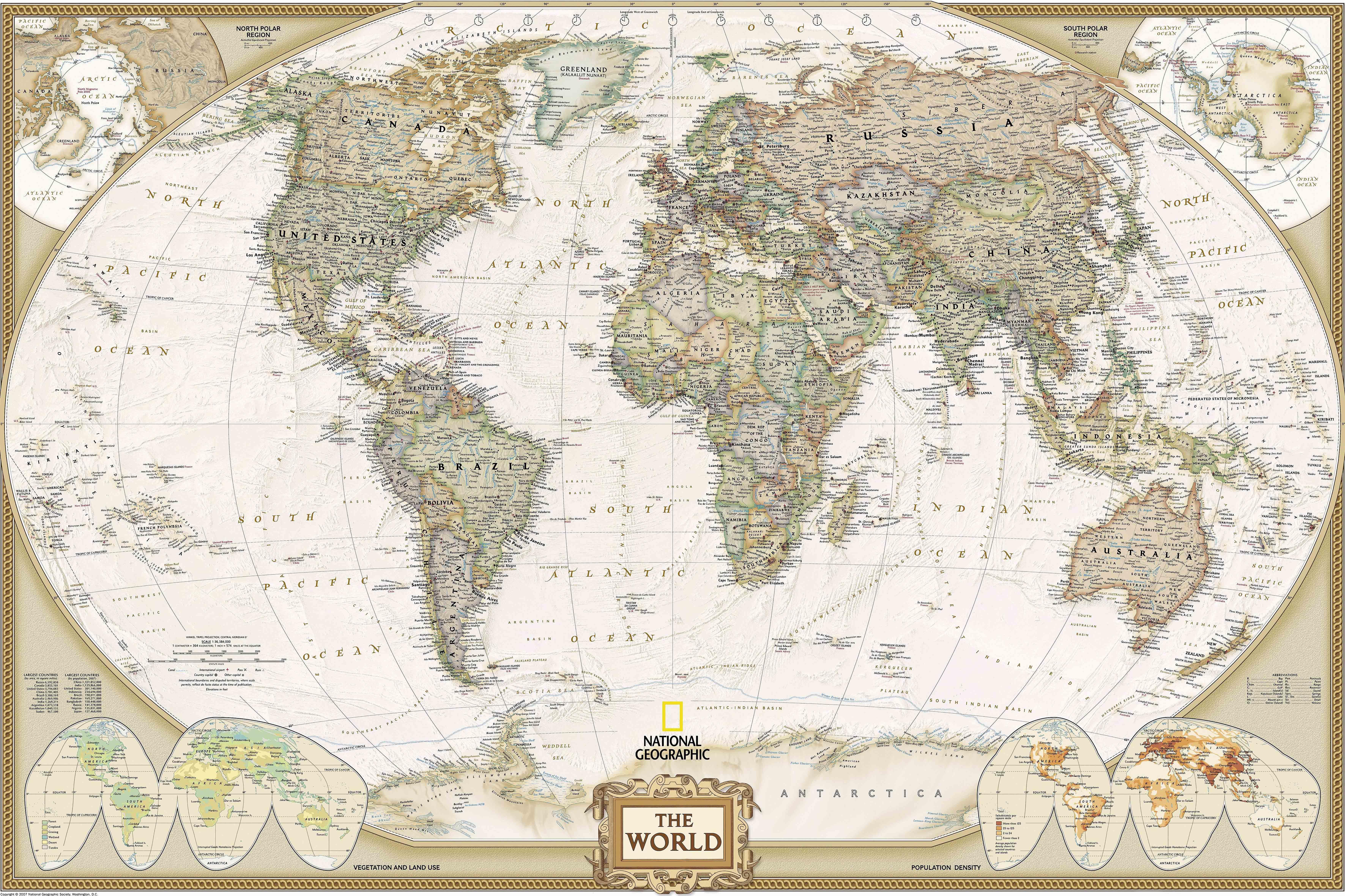 Большая карта мира своими руками