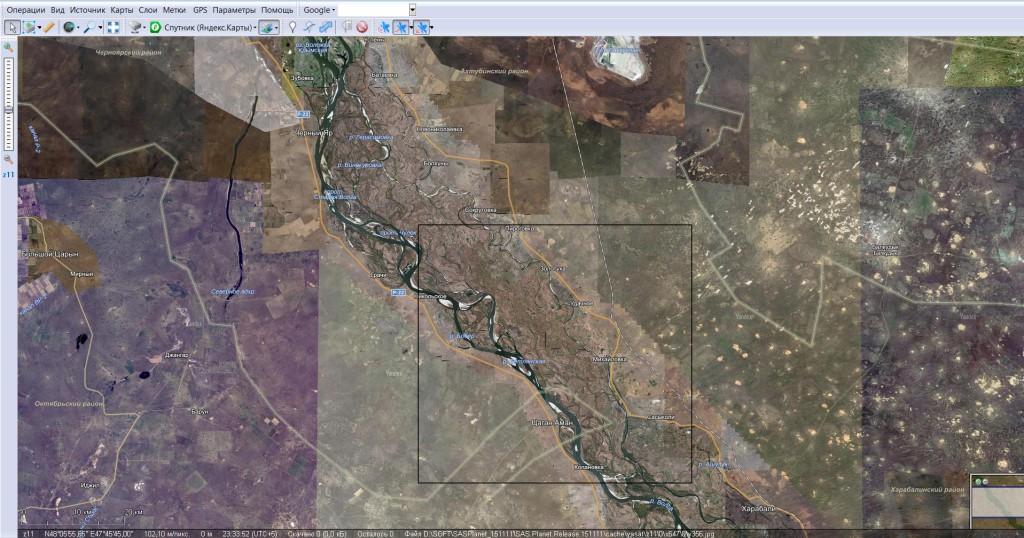 Купить спутниковую карту нижней Волги