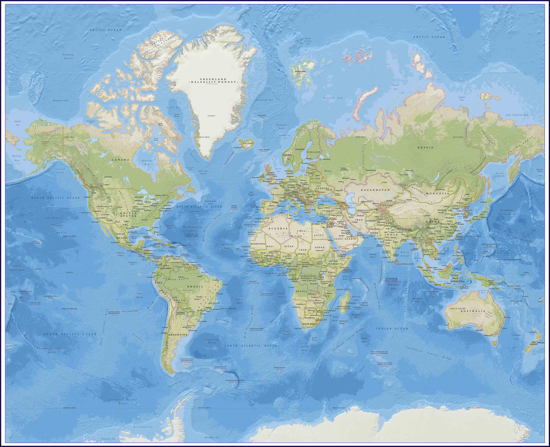 Изготовление карты морей и океанов