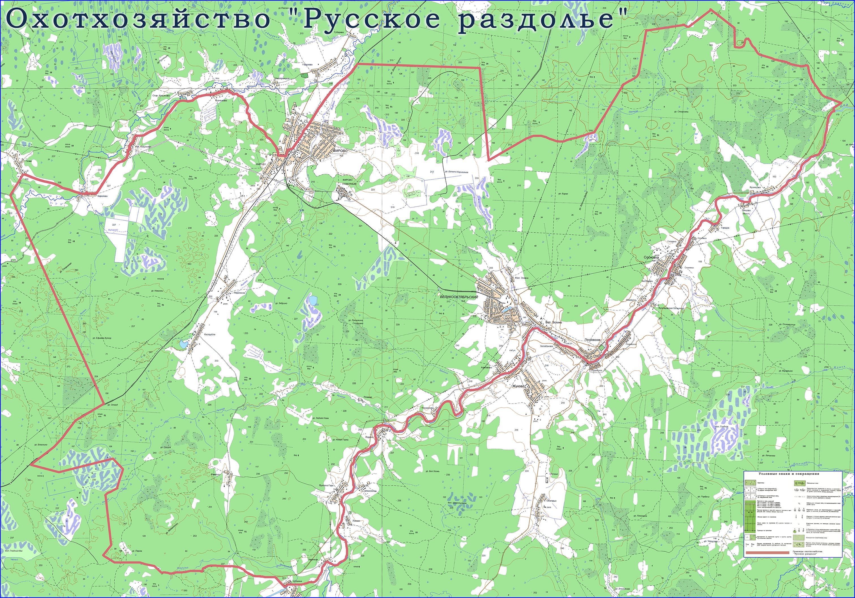 Топографическая карта охот-хозяйства