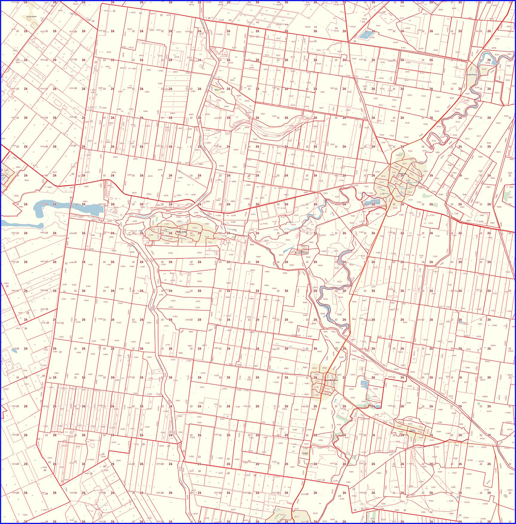 Кадастровая карта района Новкус Артезиан