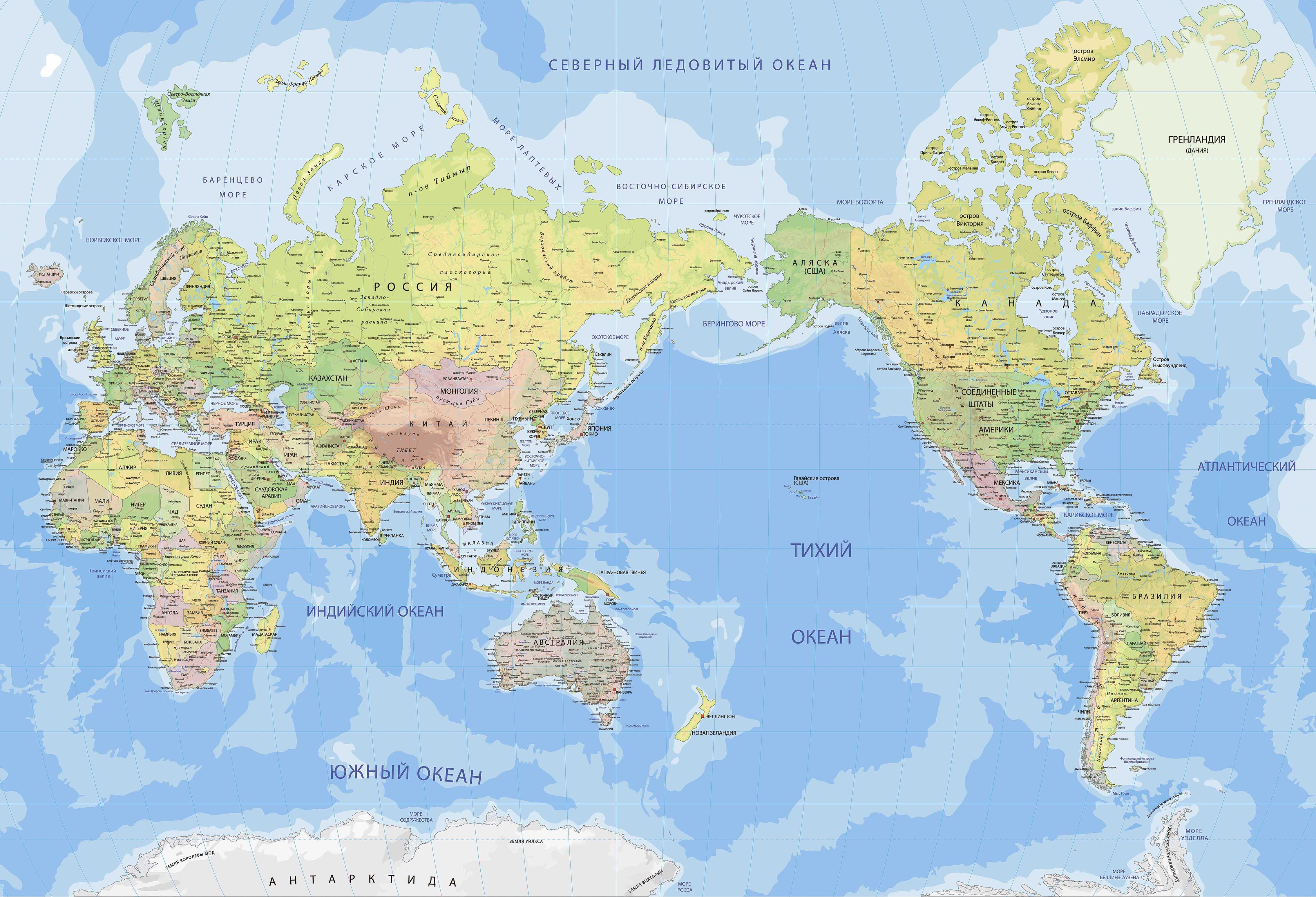 купить большую настенную карту мира