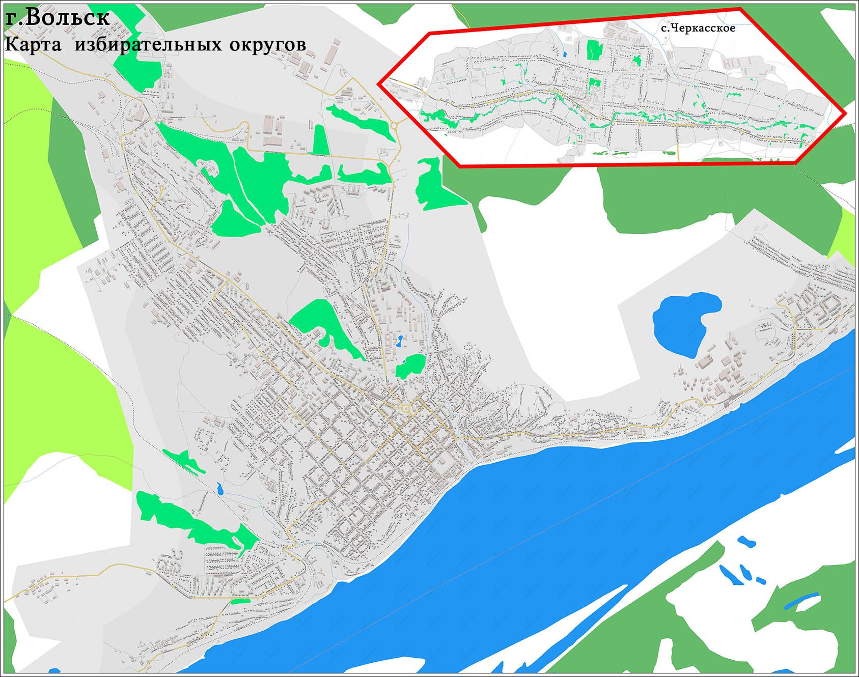 карта избирательного участка на заказ