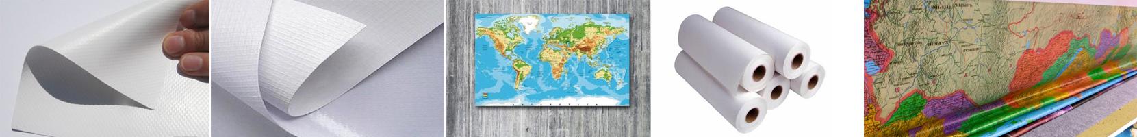 Материал для изготовления настенных карт